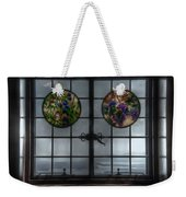 Castle In The Clouds Stained Glass To Winnipesaukee - Greeting Card Weekender Tote Bag