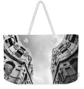 Castle Keyhole In Black And White Weekender Tote Bag