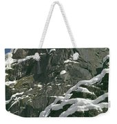 104619-castle Rock In Winter Dress Weekender Tote Bag