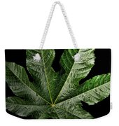 Castor Bean Leaf Weekender Tote Bag