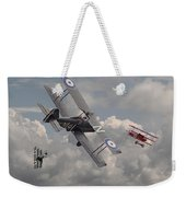 Cat Among The Pigeons Weekender Tote Bag by Pat Speirs