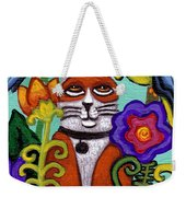 Cat And Four Birds Weekender Tote Bag