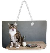 Cat And Herring Weekender Tote Bag