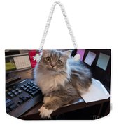 Cat And Keyboard Weekender Tote Bag