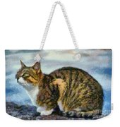 Cat By The Seaside Weekender Tote Bag