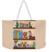 Cat Chrismas Shelves Weekender Tote Bag