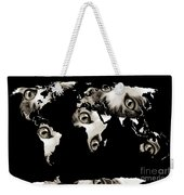 Cat Eyes World Map Weekender Tote Bag