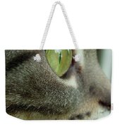 Cat Face Profile Weekender Tote Bag