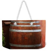Cat Guarding A Wine Barrel In Alsace Weekender Tote Bag