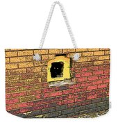 Cat In A Hole In A Wall Weekender Tote Bag