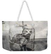 Cat In Cage Weekender Tote Bag