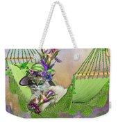 Cat In Calla Lily Hat Weekender Tote Bag