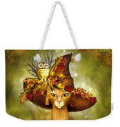 Cat In Fancy Witch Hat 3 Weekender Tote Bag