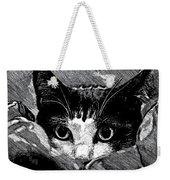 Cat In Hiding Weekender Tote Bag