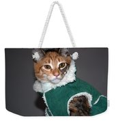 Cat In Patrick's Coat Weekender Tote Bag