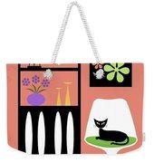 Cat In Pink Room Weekender Tote Bag