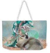 Cat In Summer Beach Hat Weekender Tote Bag