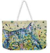 Cat In The Grass Weekender Tote Bag