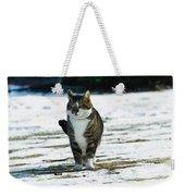 Cat In The Snow Weekender Tote Bag