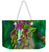 Cat In Tropical Dreams Hat Weekender Tote Bag
