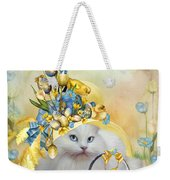 Cat In Yellow Easter Hat Weekender Tote Bag