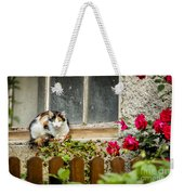 Cat On A Sill Weekender Tote Bag