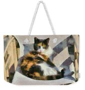 Cat On Chair Weekender Tote Bag