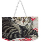 Cat On Quilt  Weekender Tote Bag