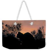 Cat - Orange - Silhouette Weekender Tote Bag