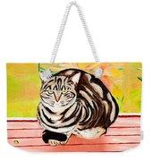 Cat Relaxing Weekender Tote Bag