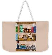 Cat Shelves Weekender Tote Bag