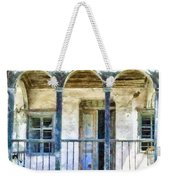 Cat Sitting On A Balcony Weekender Tote Bag