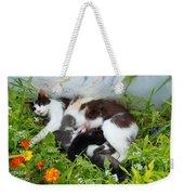 Cat Suckling Weekender Tote Bag