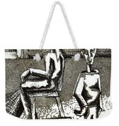 Cat Under Chair Weekender Tote Bag by Genevieve Esson