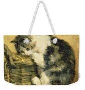 Cat With A Basket Weekender Tote Bag