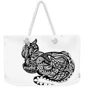 Cat With Design Weekender Tote Bag