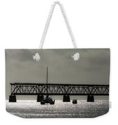 Catamaran Anchored At Old Bahia Honda Bridge Weekender Tote Bag