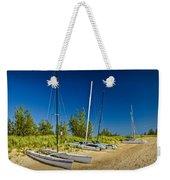 Catamaran Sailboats On The Beach At Muskegon No. 601 Weekender Tote Bag