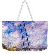 Catamarans At The Lake Weekender Tote Bag by Debra and Dave Vanderlaan
