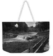 Cataract Falls Indiana Black N White Weekender Tote Bag