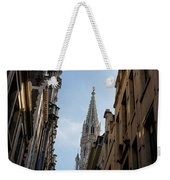Catching A Glimpse Of Grand Place Brussels Belgium Weekender Tote Bag