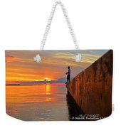 Catching A Navarre Sunset Weekender Tote Bag