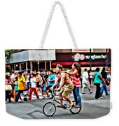 Catching A Ride Weekender Tote Bag