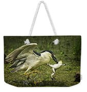 Catching Supper Weekender Tote Bag
