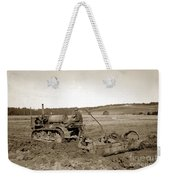 Caterpillar Sixty Working A Field  Circa 1930 Weekender Tote Bag