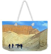 Cathedral Peaks From Golden Canyon In Death Valley National Park-california Weekender Tote Bag