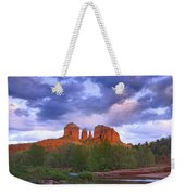 Cathedral Rock And Oak Creek At Red Weekender Tote Bag by Tim Fitzharris