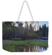 Cathedral Rock And The Merced River Weekender Tote Bag
