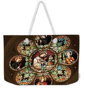 Cathedral Stained Glass Weekender Tote Bag