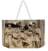 Cathedral Wall Nativity Sculpture Weekender Tote Bag